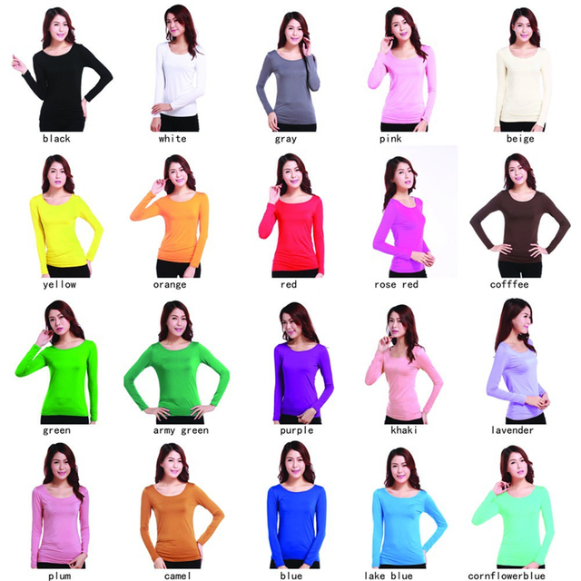 4c3cd07f70d37a Islamic Clothes Elastic Casual O Neck Modal Muslim Women Long Sleeve  Stretch T-Shirts Slim Tops Free Size Blouses 7a99