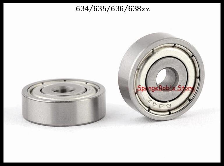 30pcs/Lot 634ZZ 634 ZZ 4x16x5mm Mini Ball Bearing Miniature Bearing Deep Groove Ball Bearing s634zz stainless steel deep groove ball bearing 4x16x5mm miniature bearing ss634zz 4 16 5