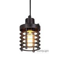 Industrial Mini Cage Pendant Light Retro Edison Iron Pendant Lamp Bar Cafe Restaurant Shop Suspension Luminaire