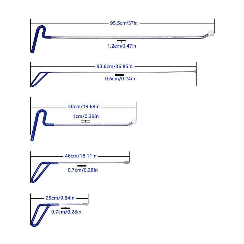 все цены на Super PDR Dent Removal Paintless Dent Repair Tools Push Rods Hooks Hand Tool Pry Bar Set Opening Tools Kit For Car Repairing Kit онлайн