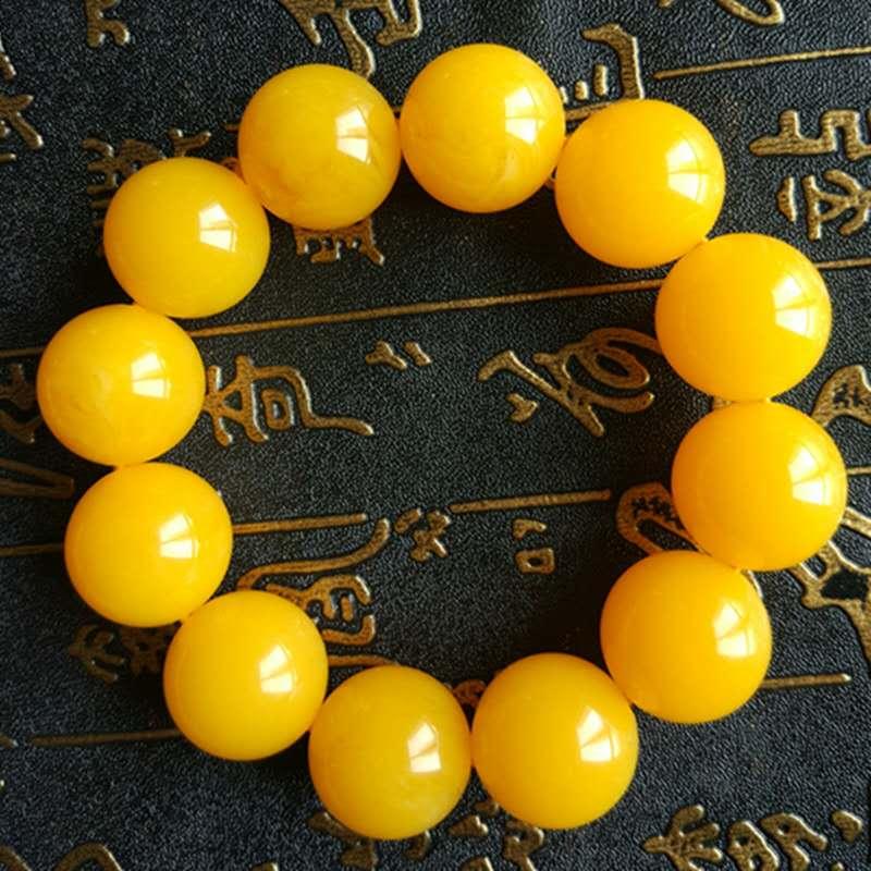 TNUKK Natural Chicken Oil Yellow Honey Wax Primitive Stone Men And Women's Bracelet. The Baltic Ore Is Not Optimized .
