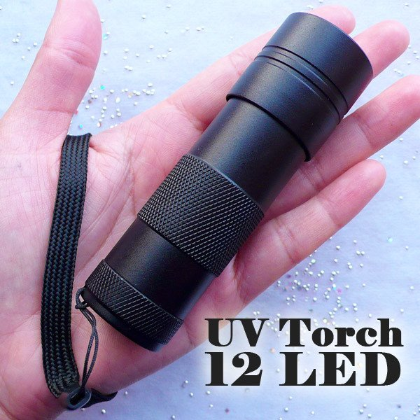 UV Torch | 12 LED Ultraviolet Flashlight | 395nm UV Purple Light | Tool for UV Resin Crafts [free ship] led uv scorpion flashlight waterproof high power 395nm ultraviolet lamp purple uv torch led light zoom flashlight