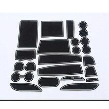 lsrtw2017 car styling latex door groove mat For toyota alphard vellfire 2015 2016 2017 2018 2019 2020 accessories