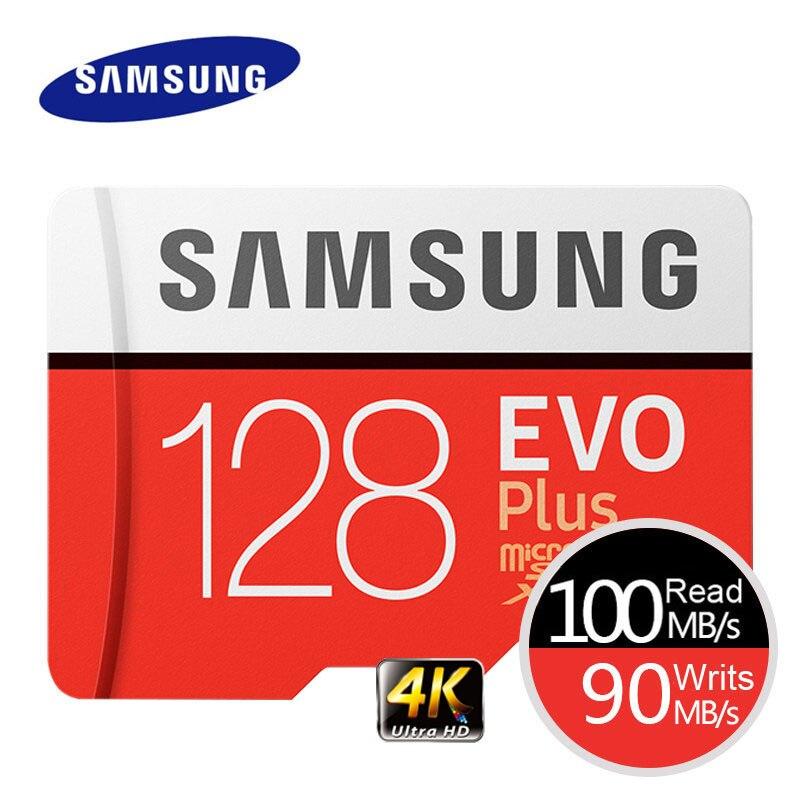 SAMSUNG Speicherkarte EVO Plus 4 Karat Ultra HD Micro SD 256 GB 128G 64 GB Class10 Microsd-karte C10 UHS-I-MIKRO-SD Trans Flash Microsd-karte