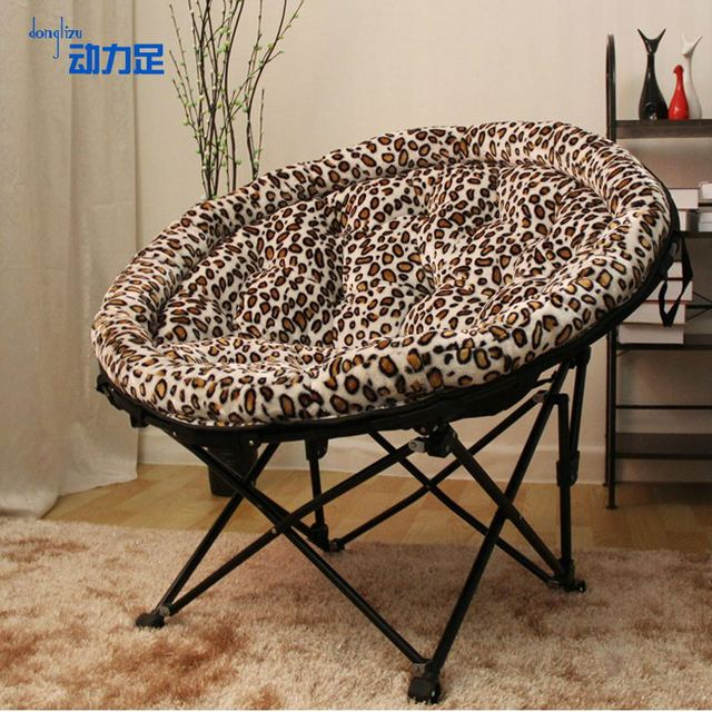 folding chair round reclining gravity enough power king moon tv balcony outdoor leisure armchair circle computer