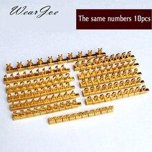 Lot de 10 étiquettes de comptoir avec le même numéro réglable, affichage du prix, pour bijouterie, téléphone, magasin de détail, signe en Cube