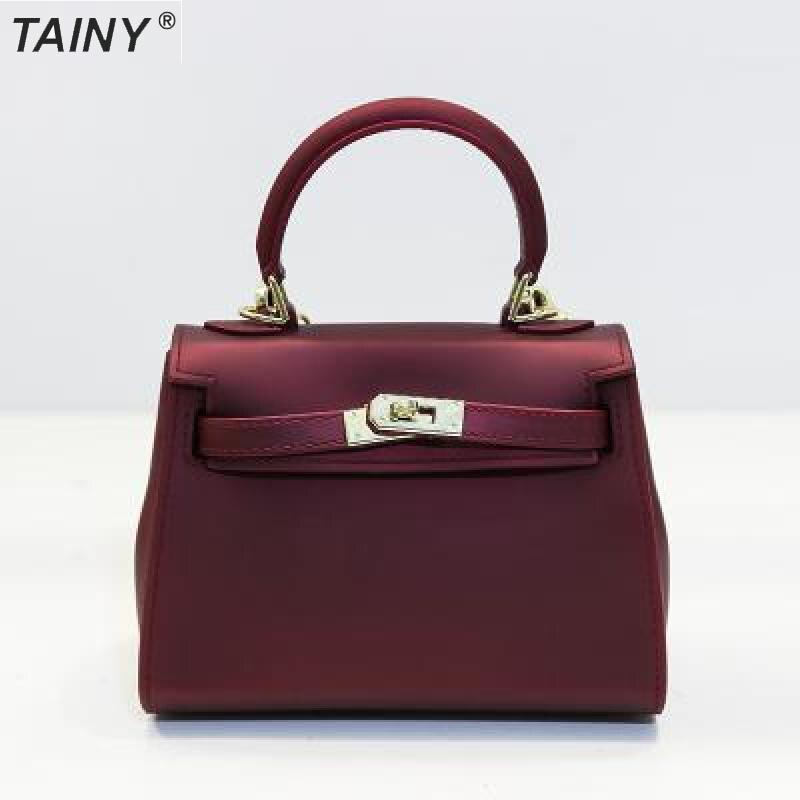 TAINY 2017 Tainy Matte Fashion Advanced Pu Ladies Handbag Shoulder Messenger Bag Mini Size 20cm