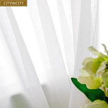 Занавеска из мягкого белого тюля cityity для гостиной японский