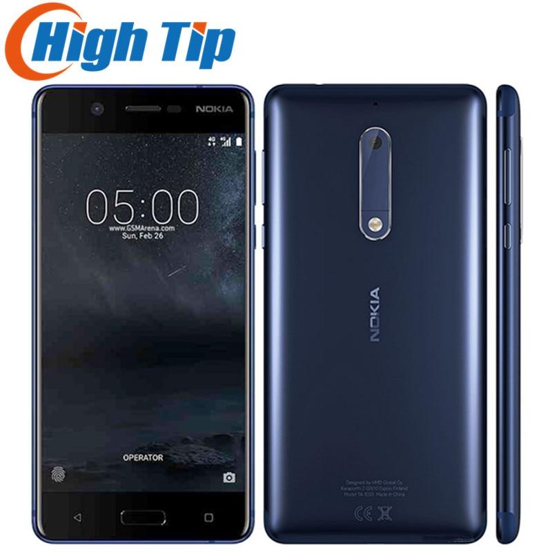 Unlocked Original Nokia 5 LTE 4G 16G ROM 2G RAM 13MP Android 7.0 Octa Core 5.2 Single SIM Card 1080P Refurbished Mobile Phone