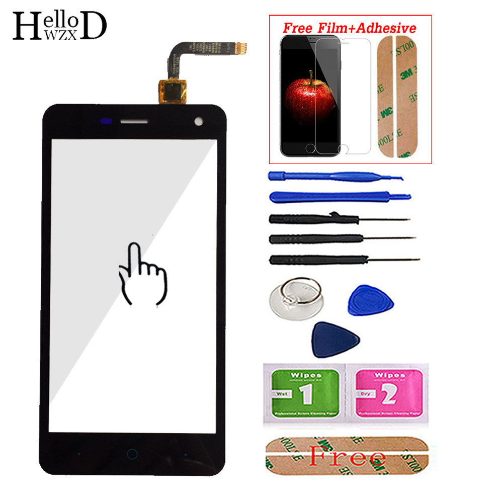 Mobile Touch Screen For ZTE Blade L3 V1.0 V1.1 Version Front Touch Glass Screen Digitizer Panel Sensor Adhesive Screen Protector(China)