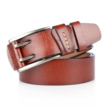 New High Quality Cowhide Men Belts Genuine Leather Luxury Jeans Dress Belt Male Fashion Double Pin Buckle Wide Strap For Cowboy 2018 new large size genuine leather men belts fashion long male designers high quality 140cm 150cm 160cm jeans pin buckle belt