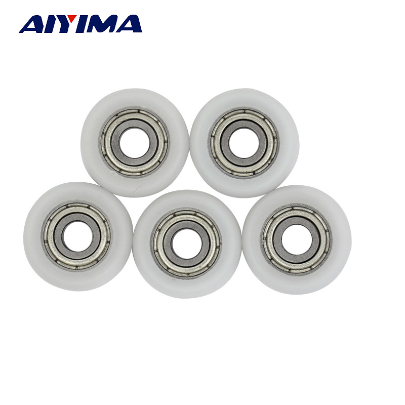 AIYIMA 5pcs Miniature 695ZZ Ball Bearing 5x18x6mm Double Metal Shielded Precision Plastic Door Pulley Nylon Bearings Arc Type gcr15 6326 zz or 6326 2rs 130x280x58mm high precision deep groove ball bearings abec 1 p0