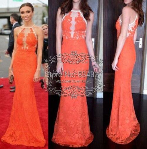 Giuliana beaded lace full length dress