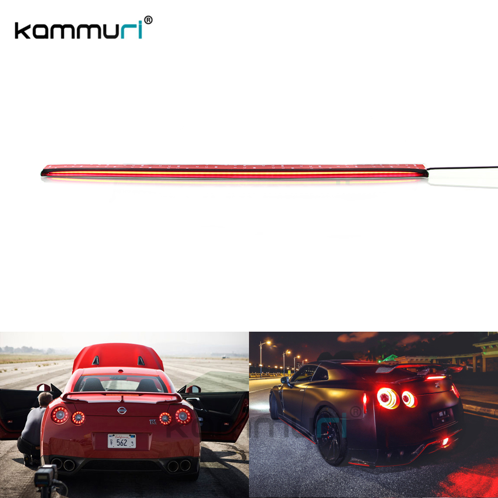 36-Inch Roofline LED Third Brake Light Kit Above Rear Windshield Universal For Nissan qashqai GTR Tesla car-Styling KAMMURI for nissan gtr gtr r35 led tail lights 2007 red