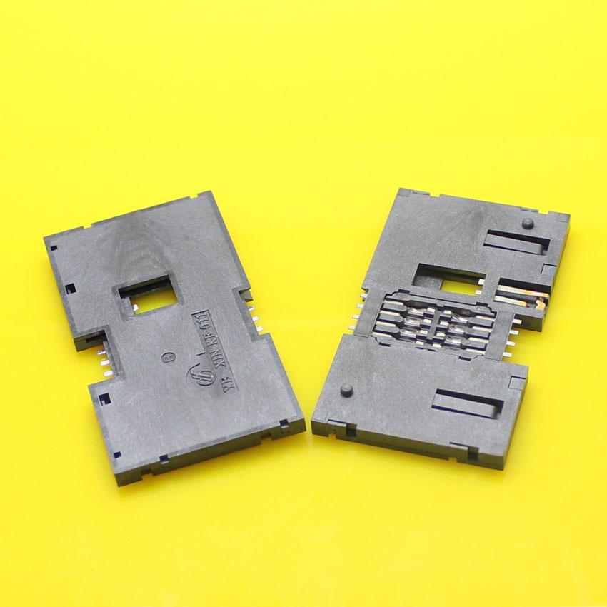 High Quality.2pcs/lot SMD IC card KF-011 memory card reader holder socket tray slot connector.