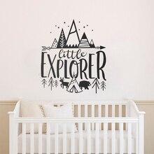 Art Home Sticker Mountain Star Wall Kids Poster Little Explorer Mural Room Teen For Bedroom Decel LY22