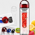 3Colors 700ml Fruit Juice Cup Infuser Sport Drinking Detox Water Bottles Flip Lid BPA Free Health Bottle Lemon Cup For Outdoor