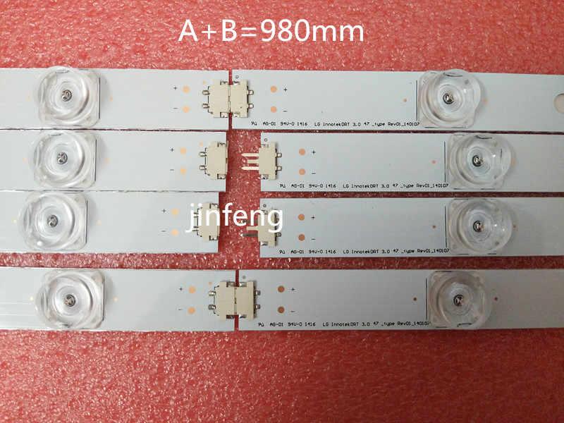 """100% Baru 98 Cm Lampu Latar LED Lampu Strip 9 LED LG 47 """"TV Innotek DRT 3.0 47"""" 47LB6300 47GB6500 47LB652V 47lb650v LC470DUH 47LB"""
