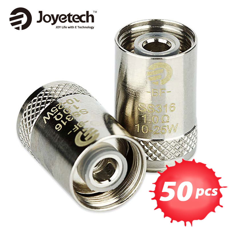 50 pezzi Joyetech eGO AIO Bobina Cubis BF Bobina 0.5ohm/0.6ohm SS316 Clapton Testa Atomizzatore per CUBIS/eGO AIO/Cuboide Mini atomizzatore