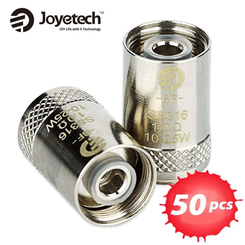 50 pièces Joyetech eGO AIO bobine Cubis BF bobine 0.5ohm/0.6ohm SS316 Clapton atomiseur tête pour CUBIS/eGO AIO/cuboïde Mini atomiseur-in Atomiseur de cigarette électronique from Electronique    1