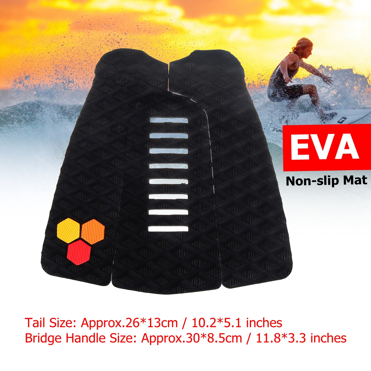 Mat Surfboard-Pad Traction Deck-Grip Surfing Anti-Slip Outdoor Water-Sports EVA 3pcs/Set