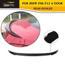 6 Серии F06 F12 V Стиль Углеродного Волокна Заднего багажника спойлер Загрузки губ Для BMW F06 F12 4 Двери 2014UP