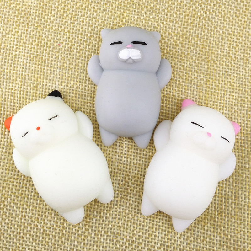 1pcs Antistress Ball Mini Squeeze Toy Squishy Cat Cute Kawaii Doll Squeeze Stretchy Animal Healing Stress Hand Fidget Vent Toys