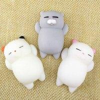 Bola de brinquedo de apertar antiestresse em forma de gato, boneca de apertar e de gatinho, brinquedo elástico de curar para as mãos, 1 peça