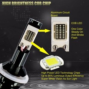 Image 3 - 2Pcs Strobe LED Fog Lights H8 H11 H1 H3 H7 HB4 9005 HB3 9006 880 881 H4 Car Headlight Fog Lamp Bulb Flash COB Warning Lights