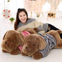 Peluş oyuncak büyük 110 cm eğilimli kahverengi köpek peluş oyuncak yumuşak bebek atmak yastık doğum günü hediyesi b0833