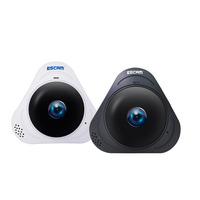 ESCAM Q8 HD 960P 1.3MP 360 Degree Waterproof Panoramic Monitor WIFI IR Infrared VR Camera Two Way Audio/Motion Detector 128G AP