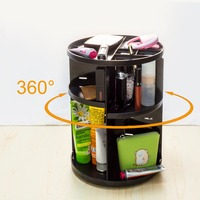 Rotate 360 Degrees Plastic Boxes Cosmetics Boxes Makeup Organize dressing table organizer Desktop Storage Box rotation container