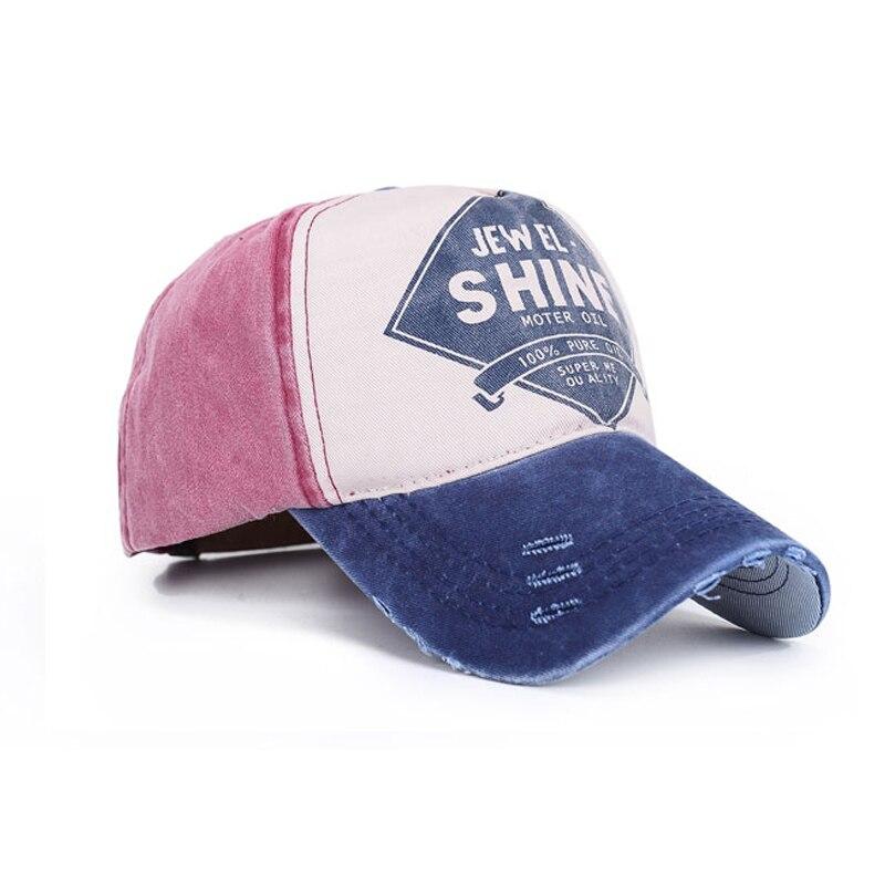 New Letters Baseball Caps SHINE Print Snapback Hats Cap for Men Women Outdoor Sports Golf Cap hat Wash Color Canvas Peaked cap