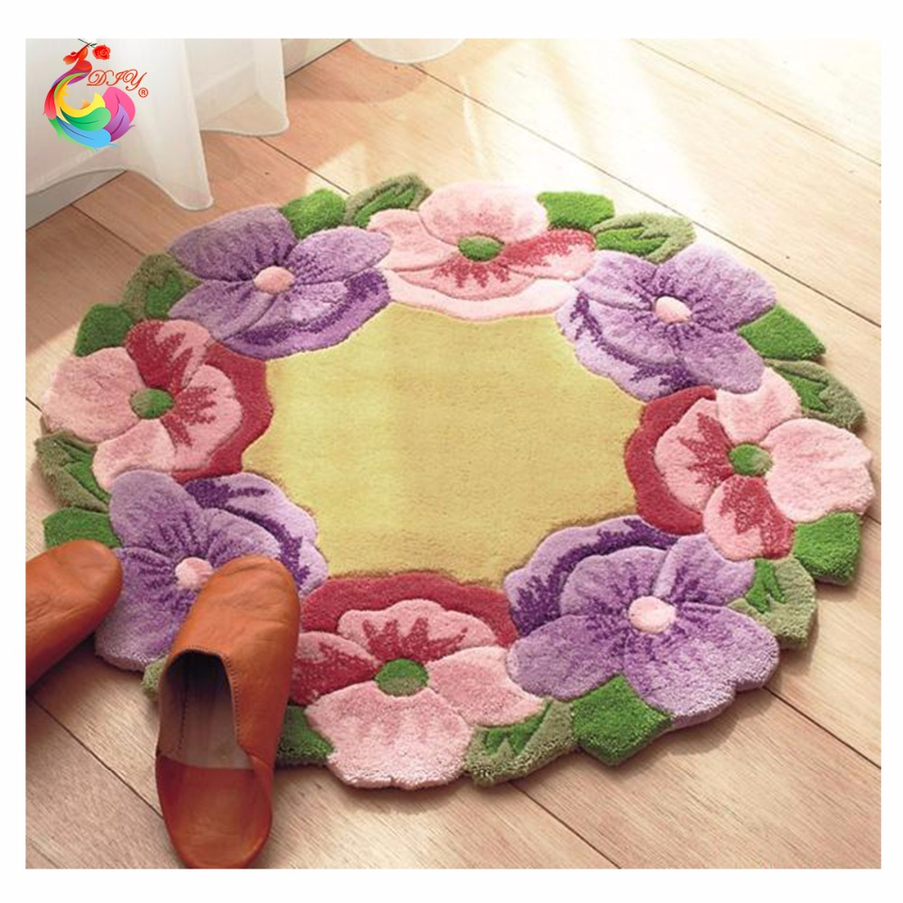 Цветя Килими комплект за бродиране бод нишка Заключване кука килим комплекти Плетене на една кука кръстат бод Пачуърк килим бродерия
