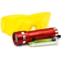 Kit Ferramenta de Reparo de Vazamentos Lanterna 3-em-1 Auto Ar Condicionado R134a R410 R12 Carro Óleo Fluorescente com Óculos UV HVAC