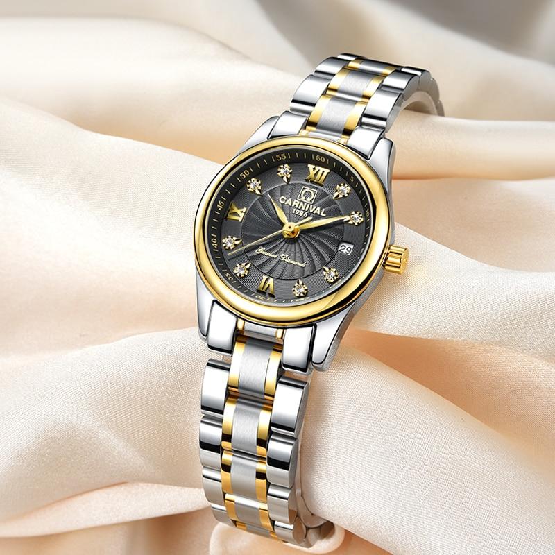 Carnaval luxe merk horloge vrouwen japan quartz klok zwitserland - Herenhorloges - Foto 3