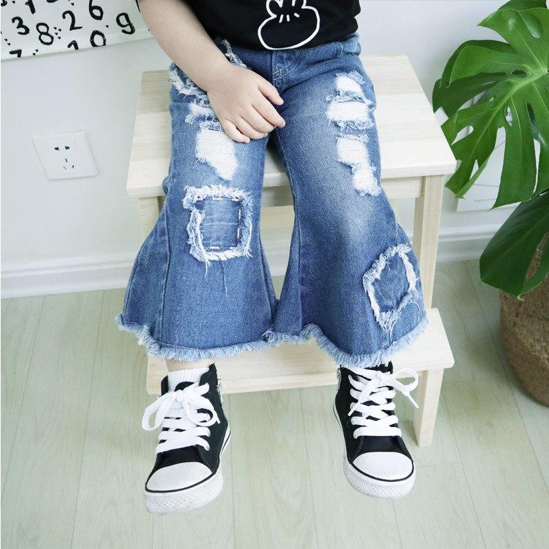 Babyinstar Qızlar Cinsləri 2018 Moda Qızları Çuxur Jeans Yay - Uşaq geyimləri - Fotoqrafiya 5