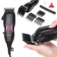 KEMEI 4in1 Adjustable Electric Haircut Hair Clipper 220V Men Hair Trimmer Personal Care Appliance KM 1027