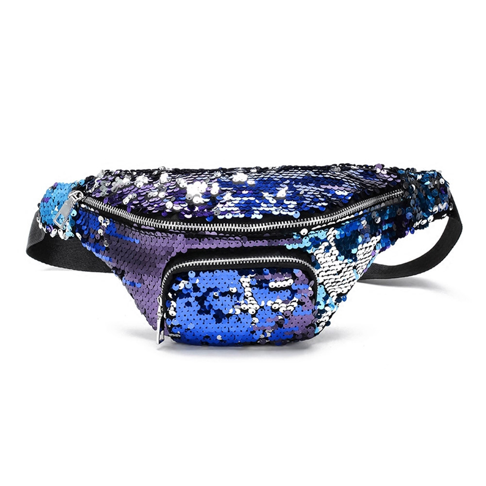 Fashion Pockets Sequins Waist Bag Satchel Multifunctional Storage Cosmetic Bag LT88Fashion Pockets Sequins Waist Bag Satchel Multifunctional Storage Cosmetic Bag LT88