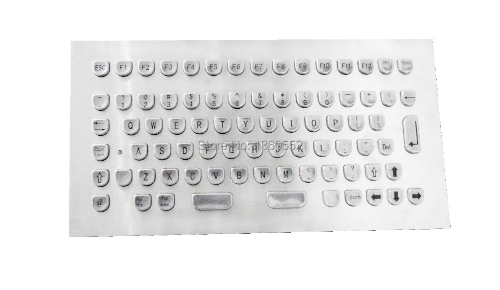 Panel-Mount Frontal Keyboard Metal Layout Compact for Integration Indukey Stainless-Steel