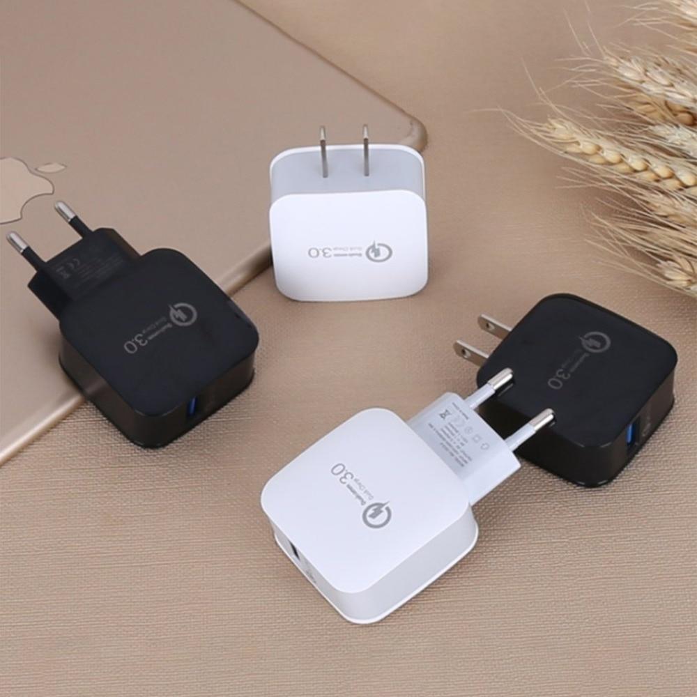 QC 3,0 быстрый адаптер для быстрой зарядки для путешествий дома AC вилка для телефона USB настенное зарядное устройство Аксессуары для мобильны...