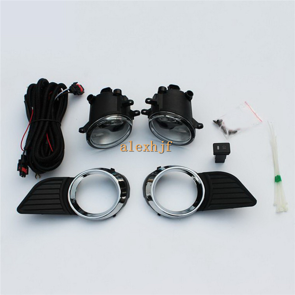 July King Car Fog Lamp Assembly With Cover Case for Toyota Sienna 2011~15, Fog Lamp Blub + Cover + Harness + Switch . 1 Set/lot hot sale abs chromed front behind fog lamp cover 2pcs set car accessories for volkswagen vw tiguan 2010 2011 2012 2013
