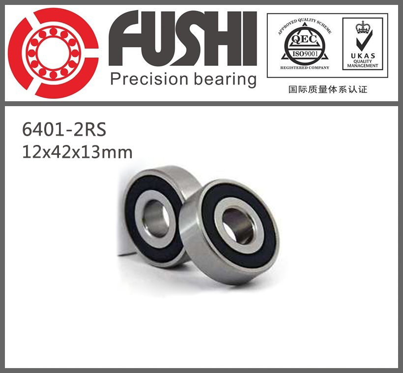 6401 Bearing Size 12 x 42 x 13 mm (2 Pcs) Heavy Duty Deep Groove Ball Bearings 6401RS 6401-2RS 6401 bearing size 12 x 42 x 13 mm 2 pcs heavy duty deep groove ball bearings 6401rs 6401 2rs
