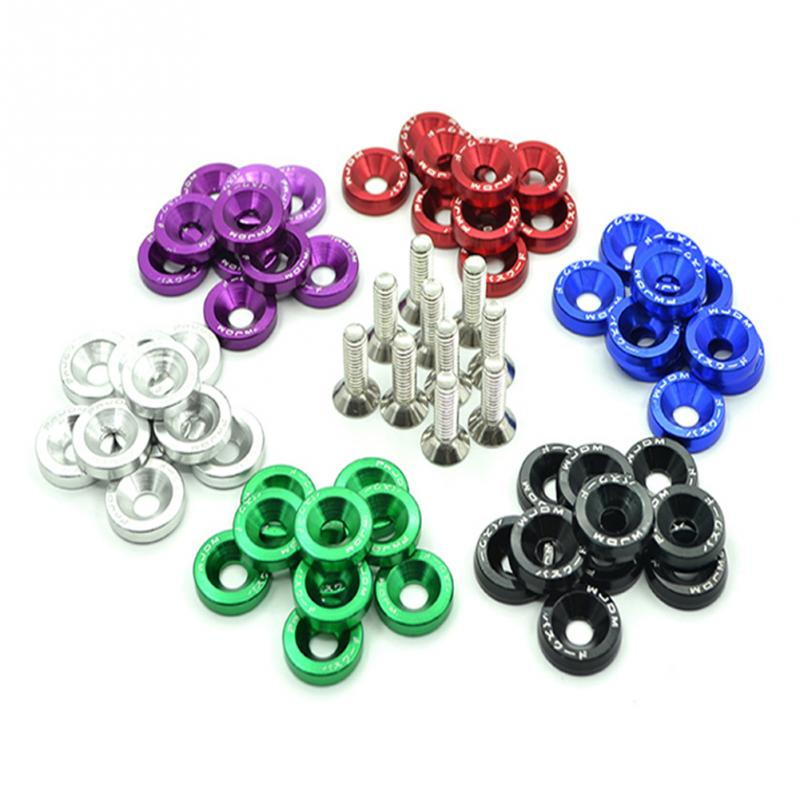 high quality 10PCS M6 x 20 Car Styling Universal Modification Washer License Plate Bolts 6 Colors Auto Accessories
