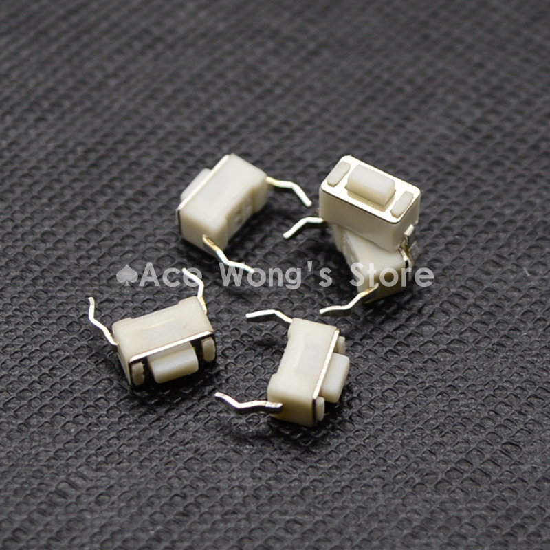 100PCS 2Pin DIP 3X6X4.3MM Tactile Tact Push Button Micro Switch Momentary 50pcs lot 6x6x5mm 4pin g90 tactile tact push button micro switch direct self reset dip top copper free shipping russia