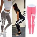 Woman Print Sporting Leggings 2017 Summer Sportswear Letter Print  Women leggins Multi Color Fitness jeggings Workout Clothes