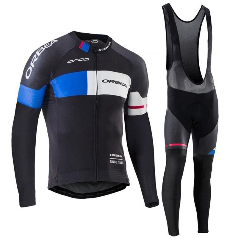2017 Équipe ORBEA Long Ropa Ciclismo Vélo Jersey/Automne Mountian Vélo Vêtements/VTT Vélo Vêtements Pour Homme