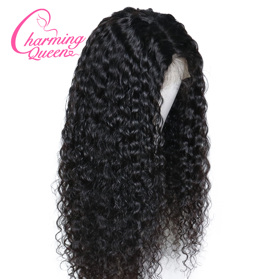 Curly 250% Density Lace Front Human Hair Wigs For Black Women Brazilian Remy Hair 13*4 Lace Wig With Baby Hair Charming Queen-in Human Hair Lace Wigs from Hair Extensions & Wigs    3