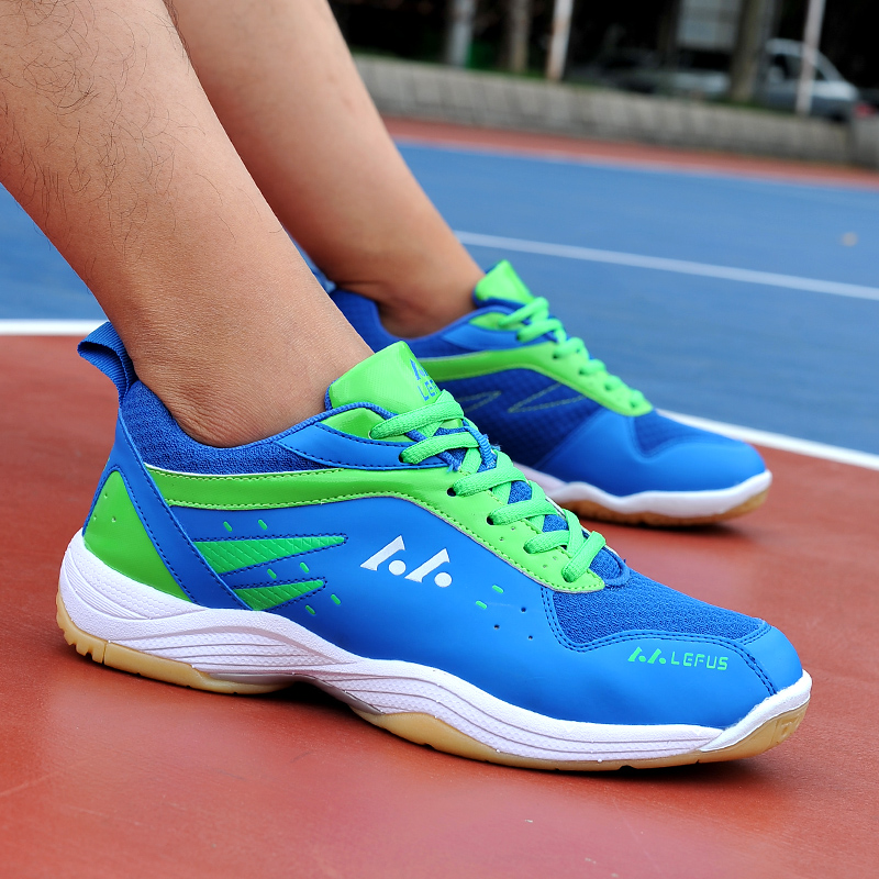 PUAMSS Men Badminton Shoes High Quality EVA Muscle Anti-Slippery Training Professional Sneakers Women Sport Badminton Shoes
