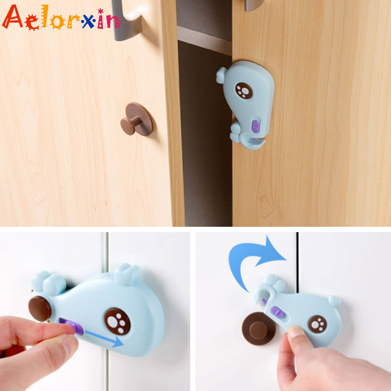 1Pcs  Whale  Cabinet Door Drawers Refrigerator Baby Safety Locks For Kids Baby Locks For Children Kids Baby Safety Locks